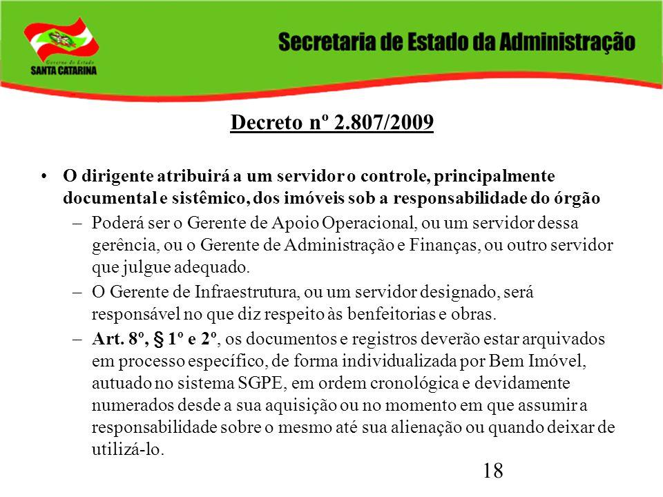 Decreto nº 2.807/2009