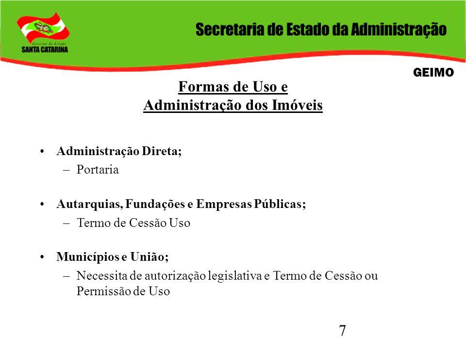 Formas de Uso e Administração dos Imóveis