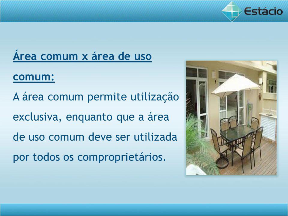 Área comum x área de uso comum: