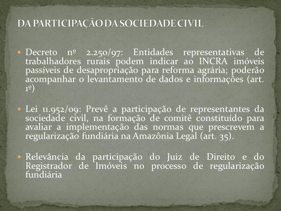 DA PARTICIPAÇÃO DA SOCIEDADE CIVIL
