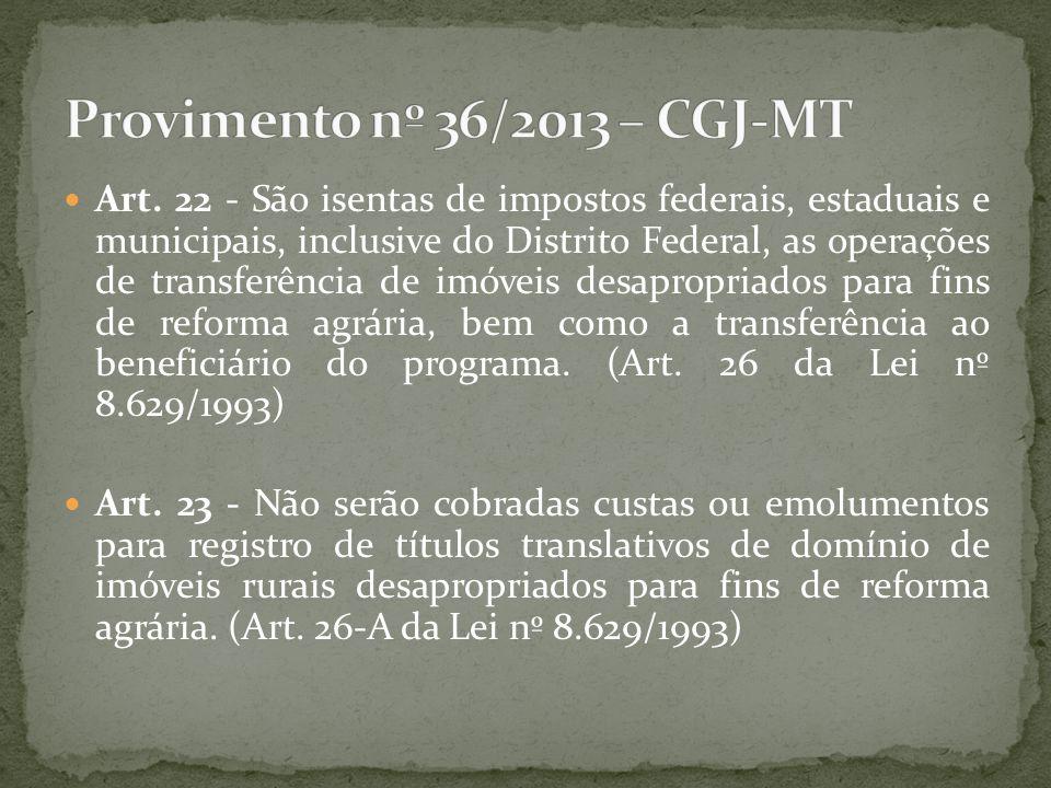 Provimento nº 36/2013 – CGJ-MT