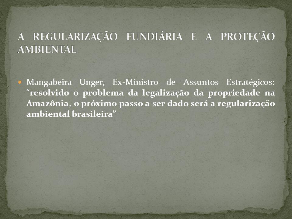 A REGULARIZAÇÃO FUNDIÁRIA E A PROTEÇÃO AMBIENTAL