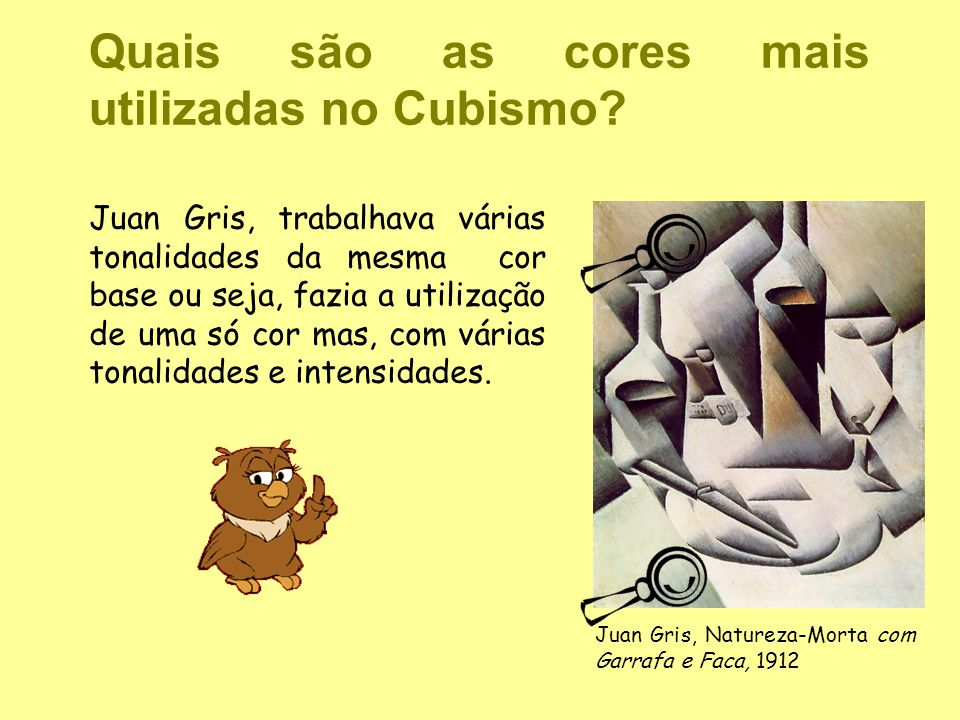 Quais são as cores mais utilizadas no Cubismo