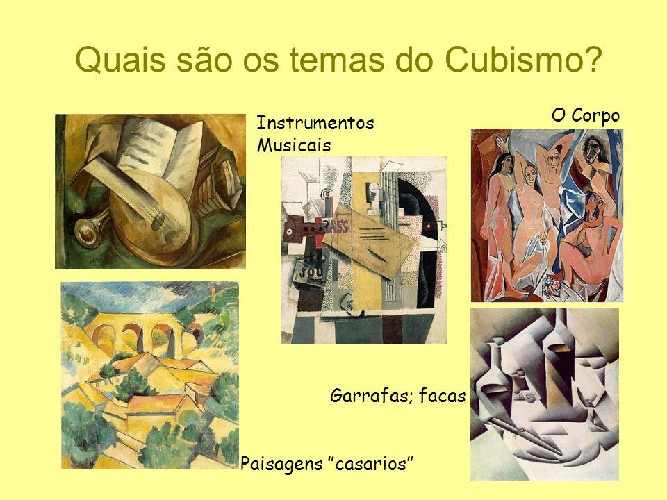 Quais são os temas do Cubismo
