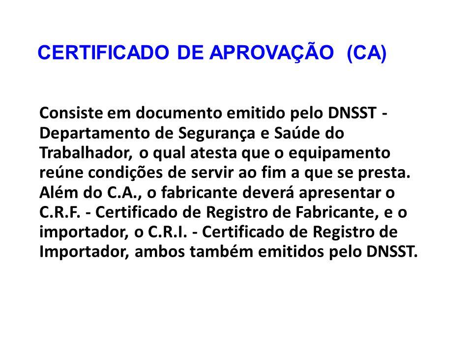 CERTIFICADO DE APROVAÇÃO (CA)