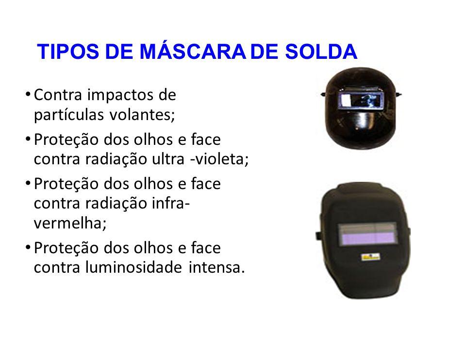 TIPOS DE MÁSCARA DE SOLDA