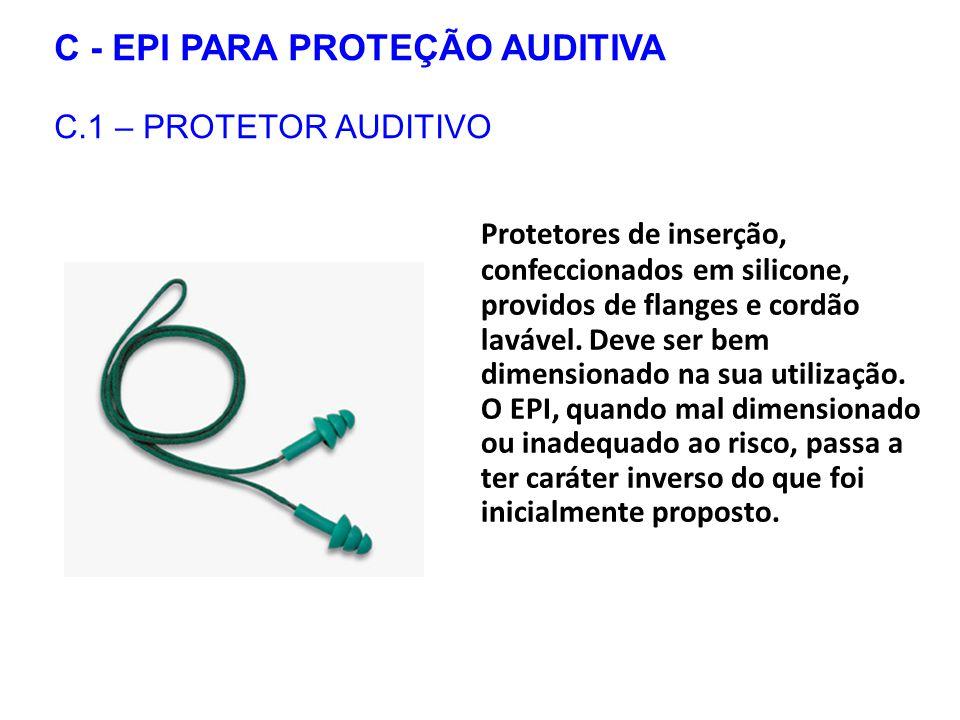 C - EPI PARA PROTEÇÃO AUDITIVA C.1 – PROTETOR AUDITIVO