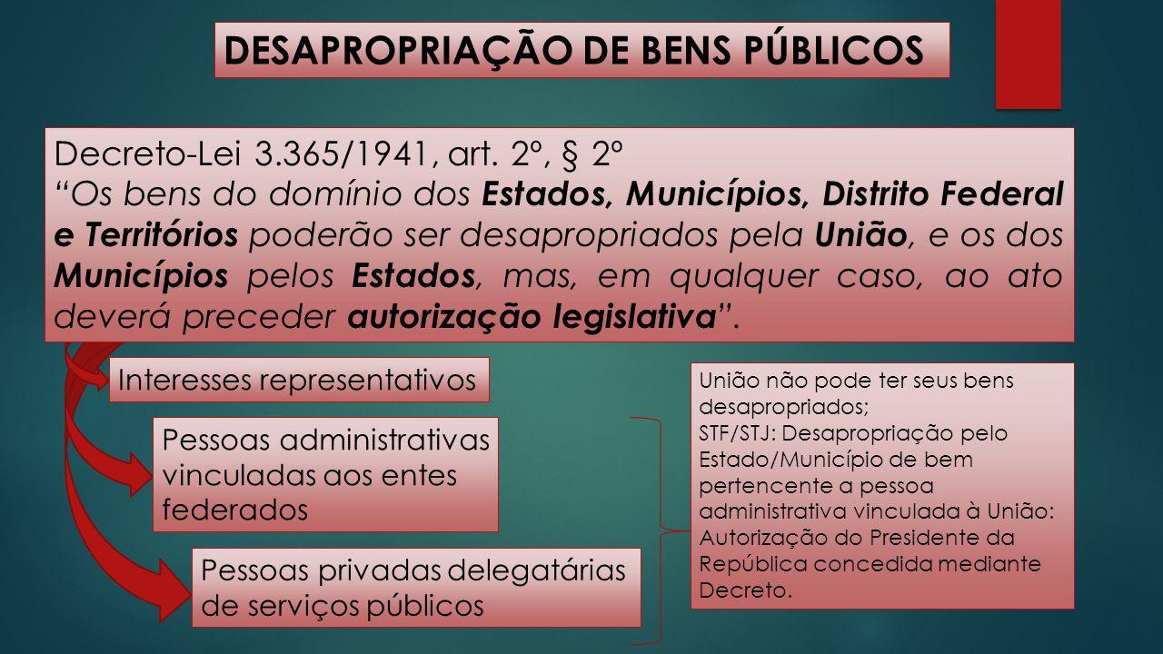 DESAPROPRIAÇÃO DE BENS PÚBLICOS