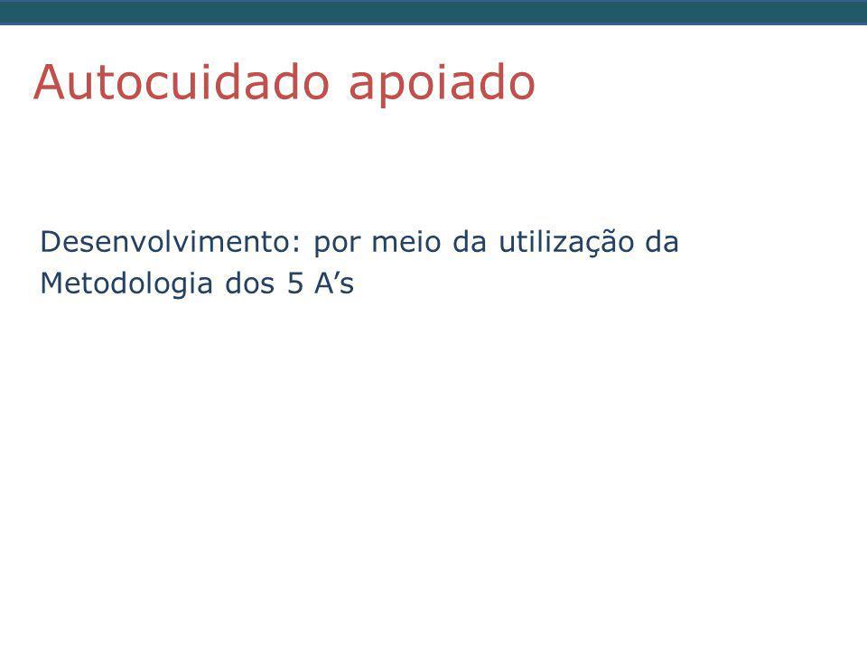 Autocuidado apoiado Desenvolvimento: por meio da utilização da Metodologia dos 5 A's