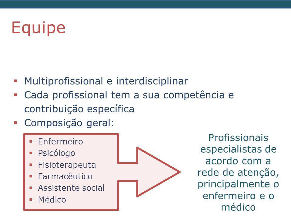 Equipe Multiprofissional e interdisciplinar