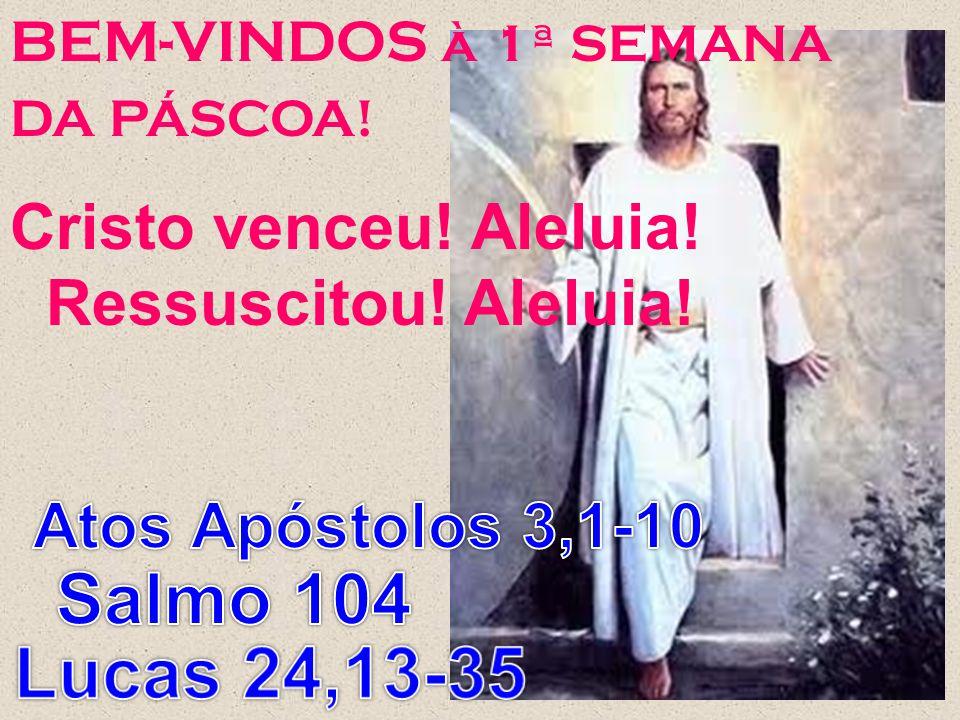 Salmo 104 Lucas 24,13-35 Cristo venceu! Aleluia! Ressuscitou! Aleluia!