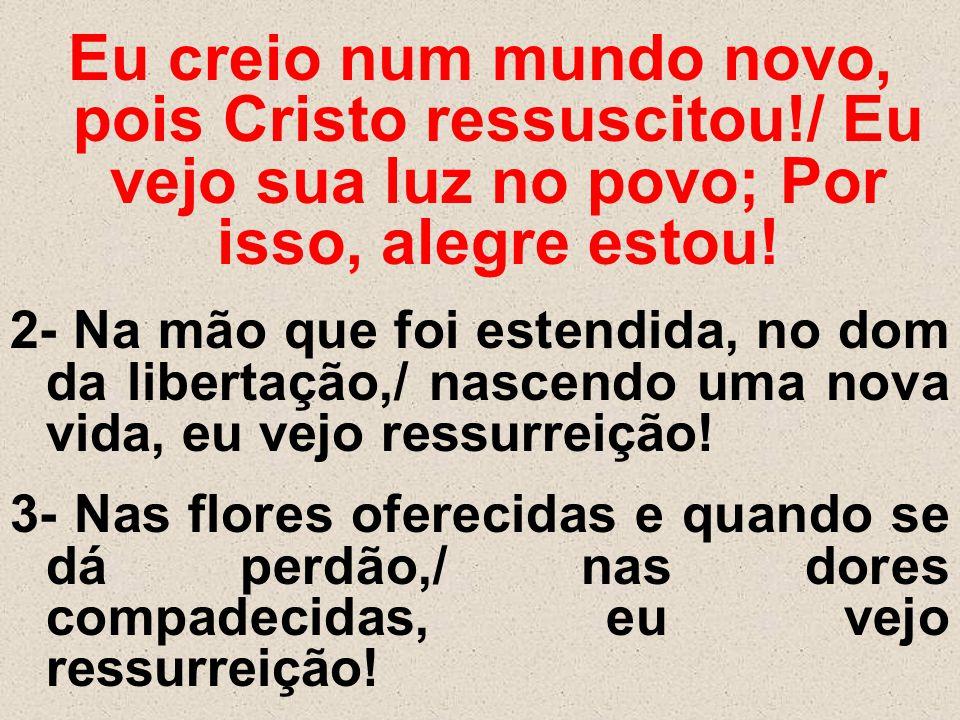 Eu creio num mundo novo, pois Cristo ressuscitou