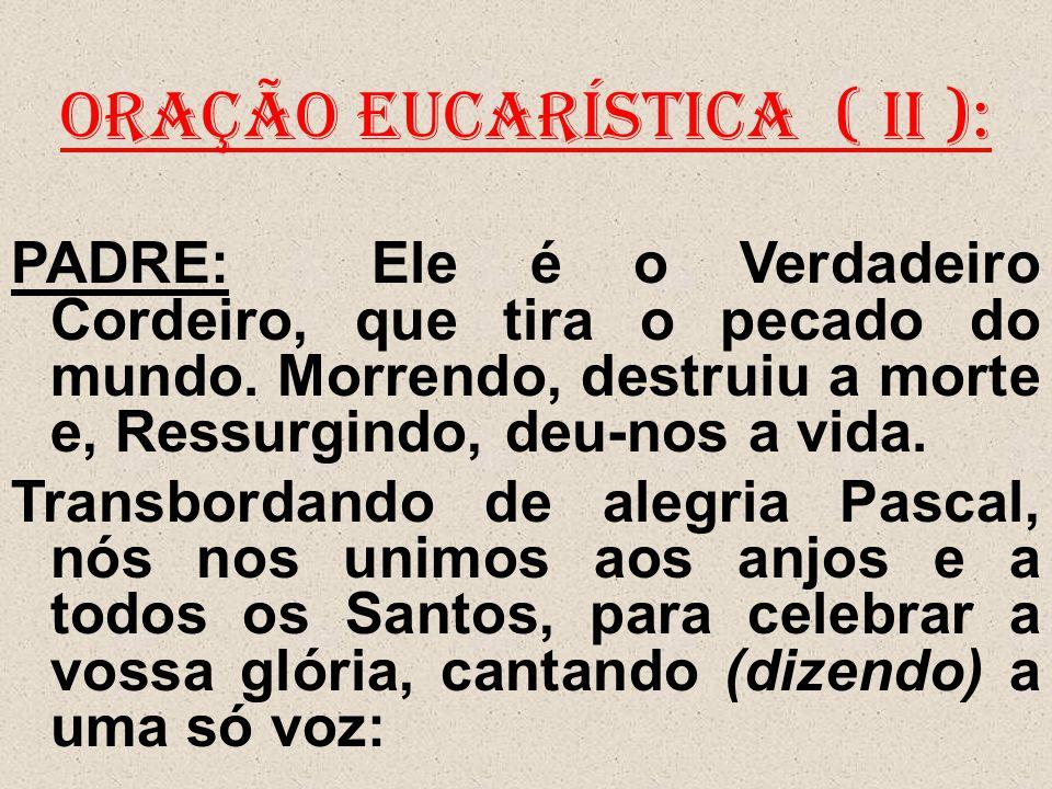 ORAÇÃO EUCARÍSTICA ( II ):