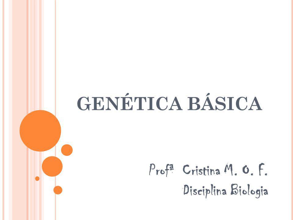 Profª Cristina M. O. F. Disciplina Biologia