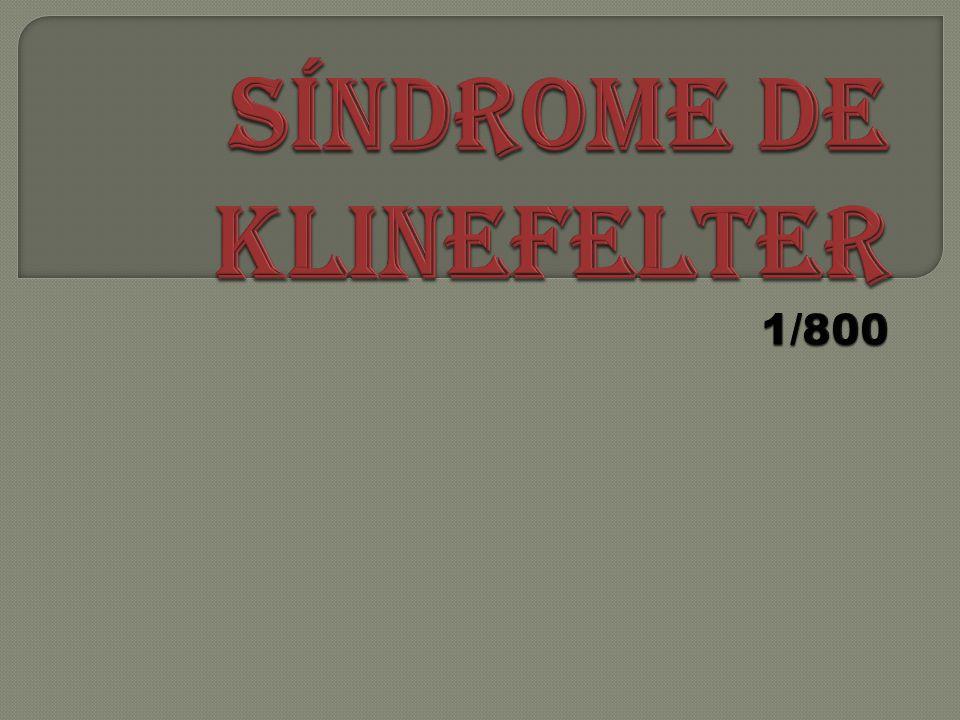 SÍNDROME DE KLINEFELTER 1/800