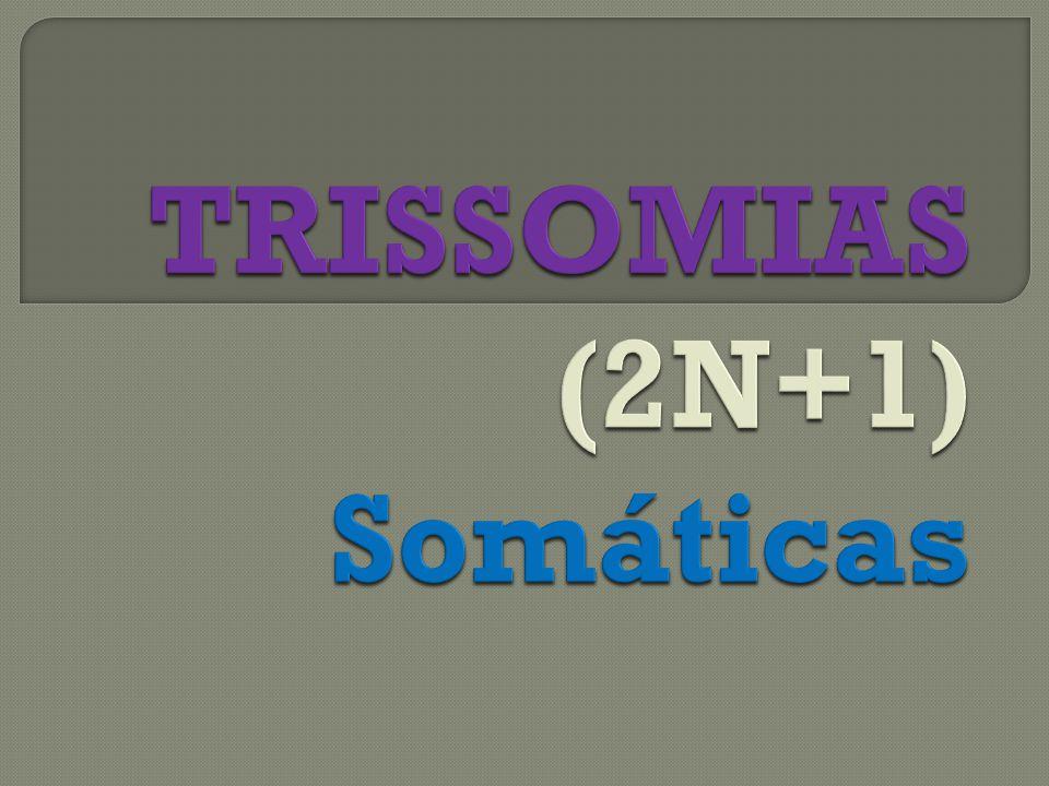 TRISSOMIAS (2N+1) Somáticas