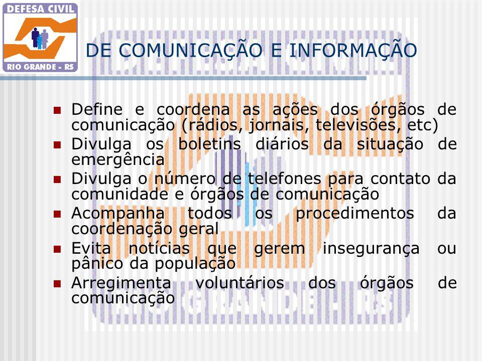 DE COMUNICAÇÃO E INFORMAÇÃO