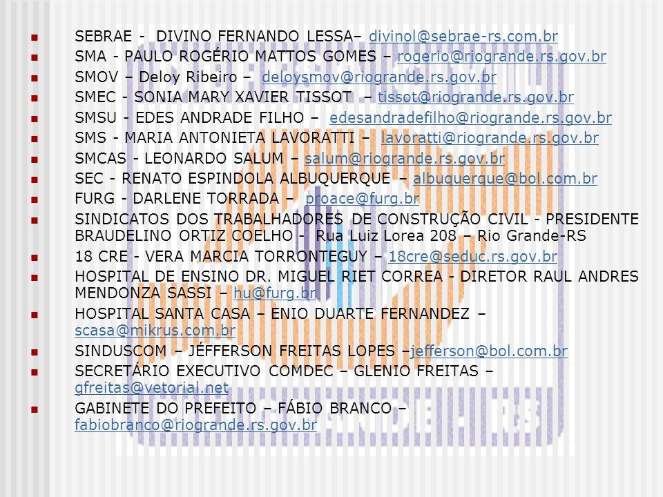 SEBRAE - DIVINO FERNANDO LESSA– divinol@sebrae-rs.com.br