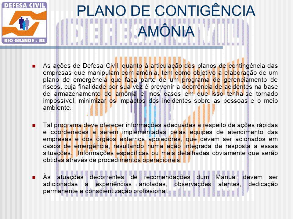 PLANO DE CONTIGÊNCIA AMÔNIA