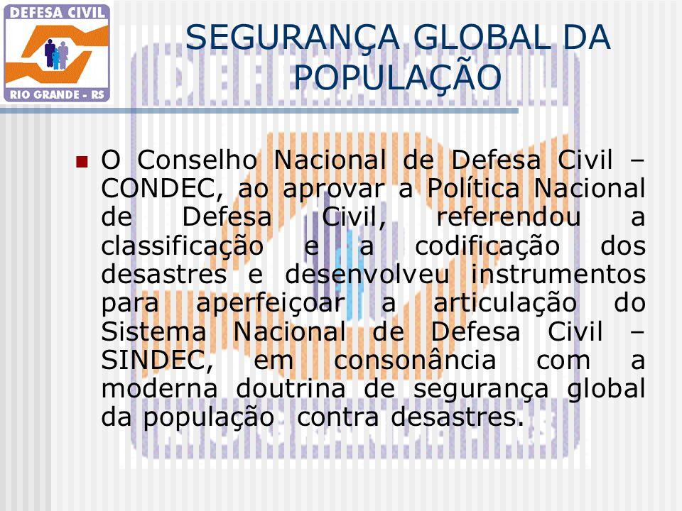 SEGURANÇA GLOBAL DA POPULAÇÃO