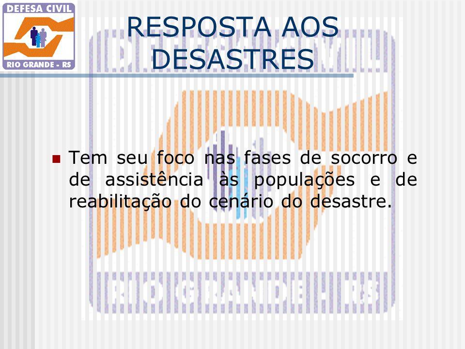 RESPOSTA AOS DESASTRES