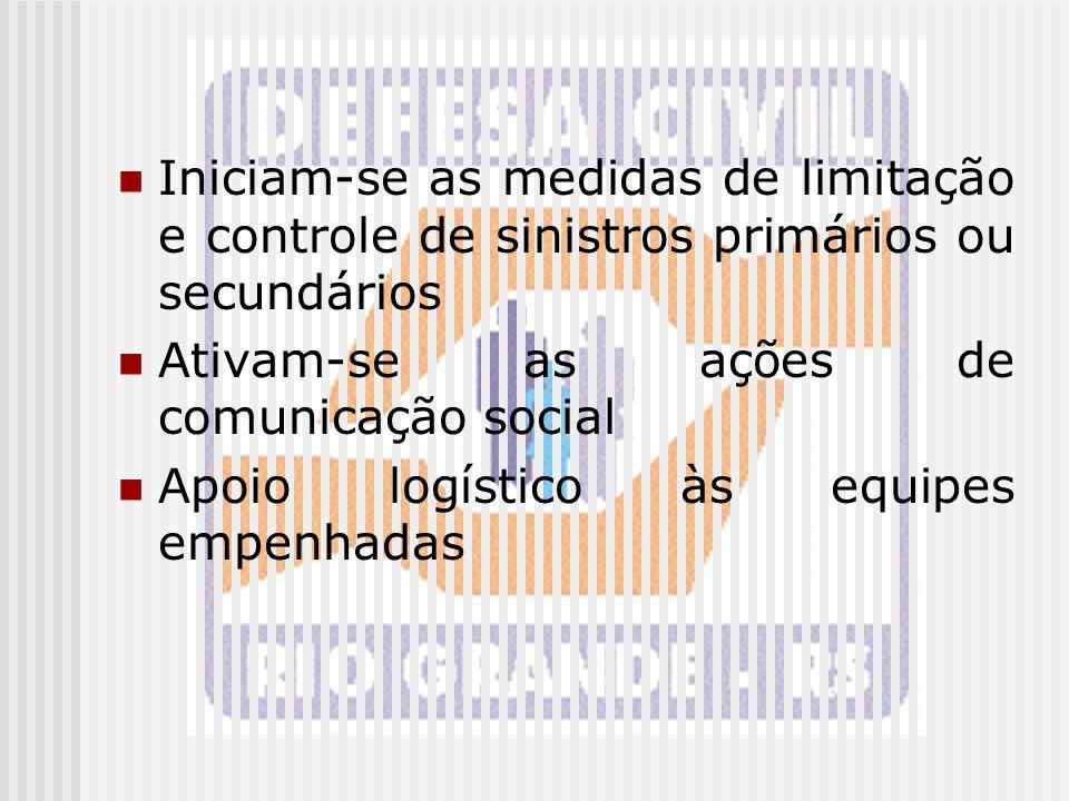 Iniciam-se as medidas de limitação e controle de sinistros primários ou secundários
