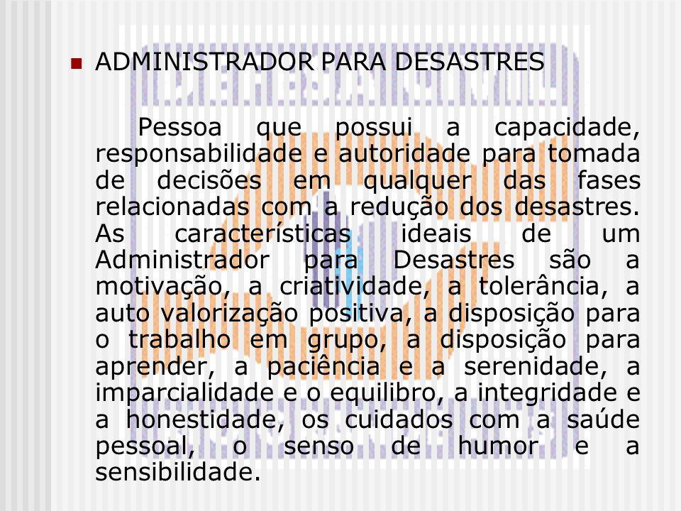 ADMINISTRADOR PARA DESASTRES
