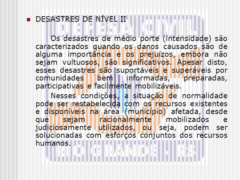 DESASTRES DE NÍVEL II