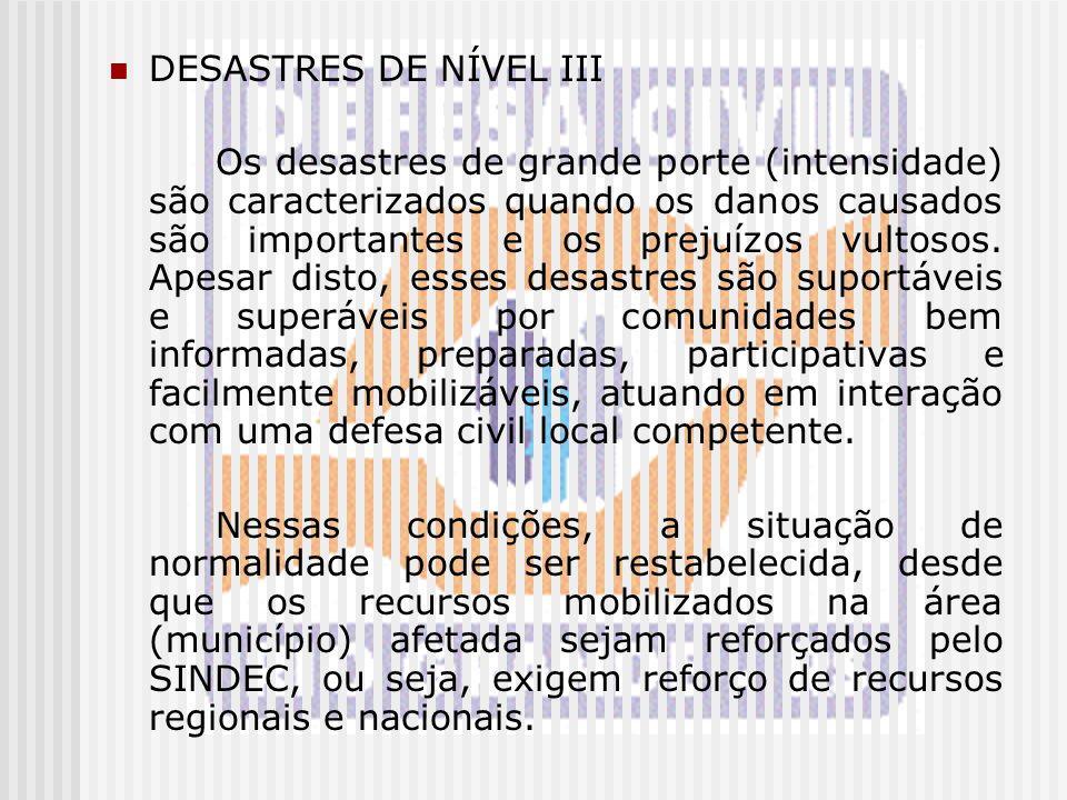 DESASTRES DE NÍVEL III