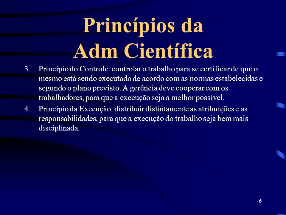 Princípios da Adm Científica