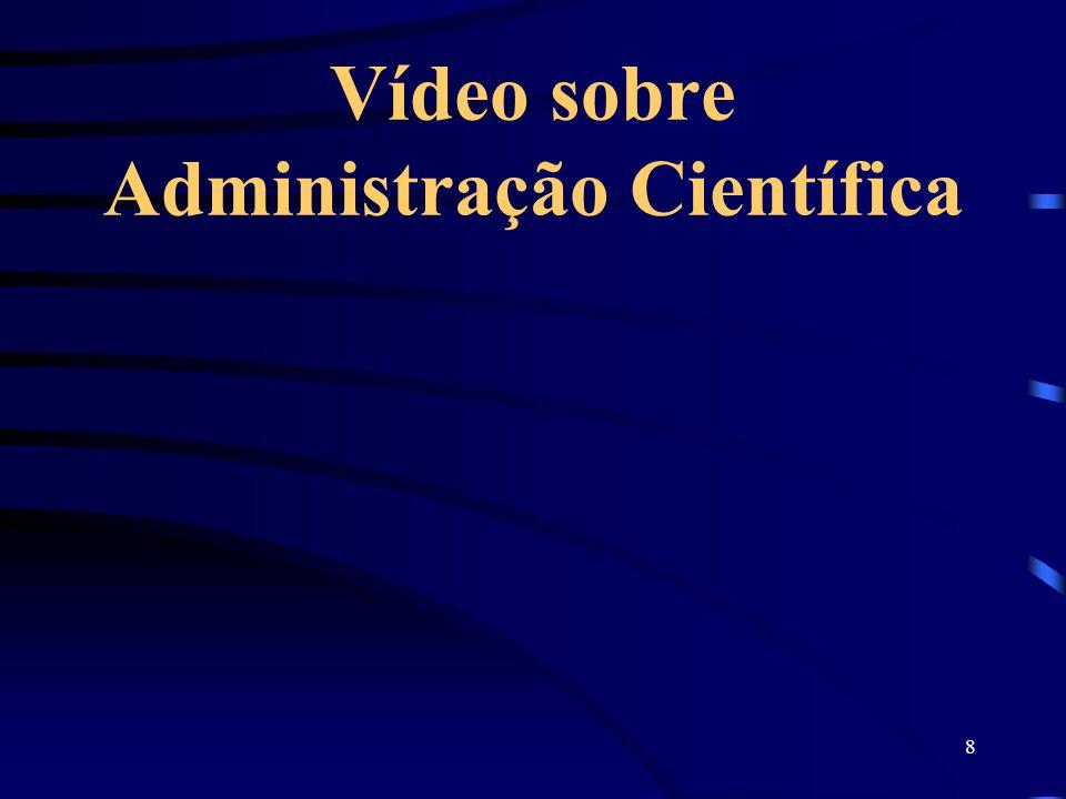Vídeo sobre Administração Científica