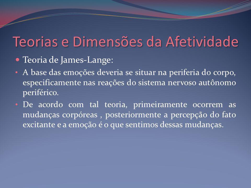 Teorias e Dimensões da Afetividade