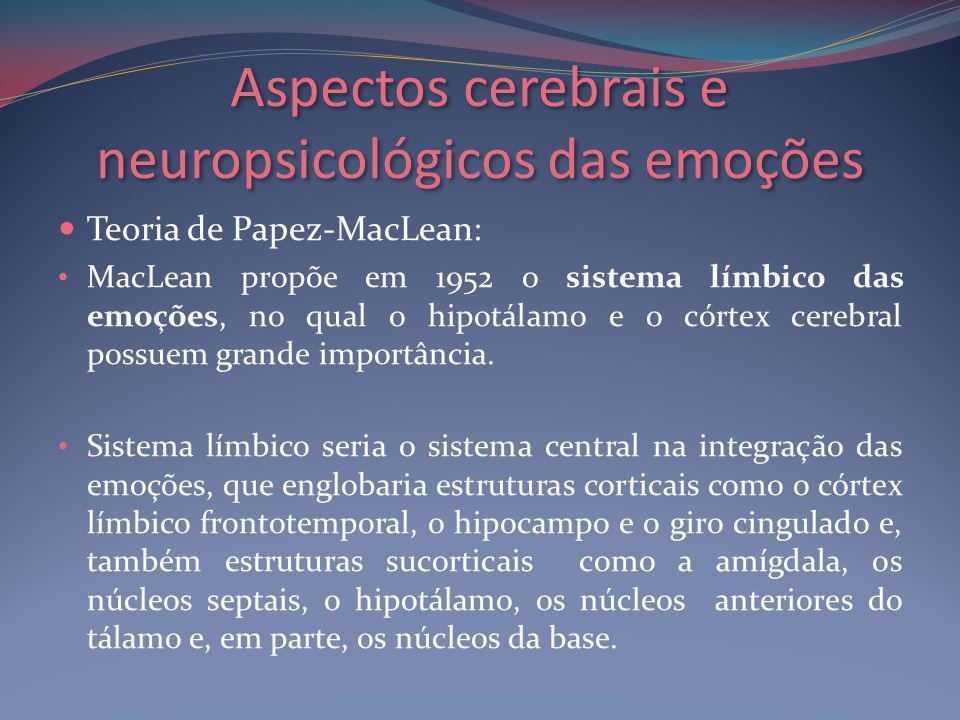 Aspectos cerebrais e neuropsicológicos das emoções