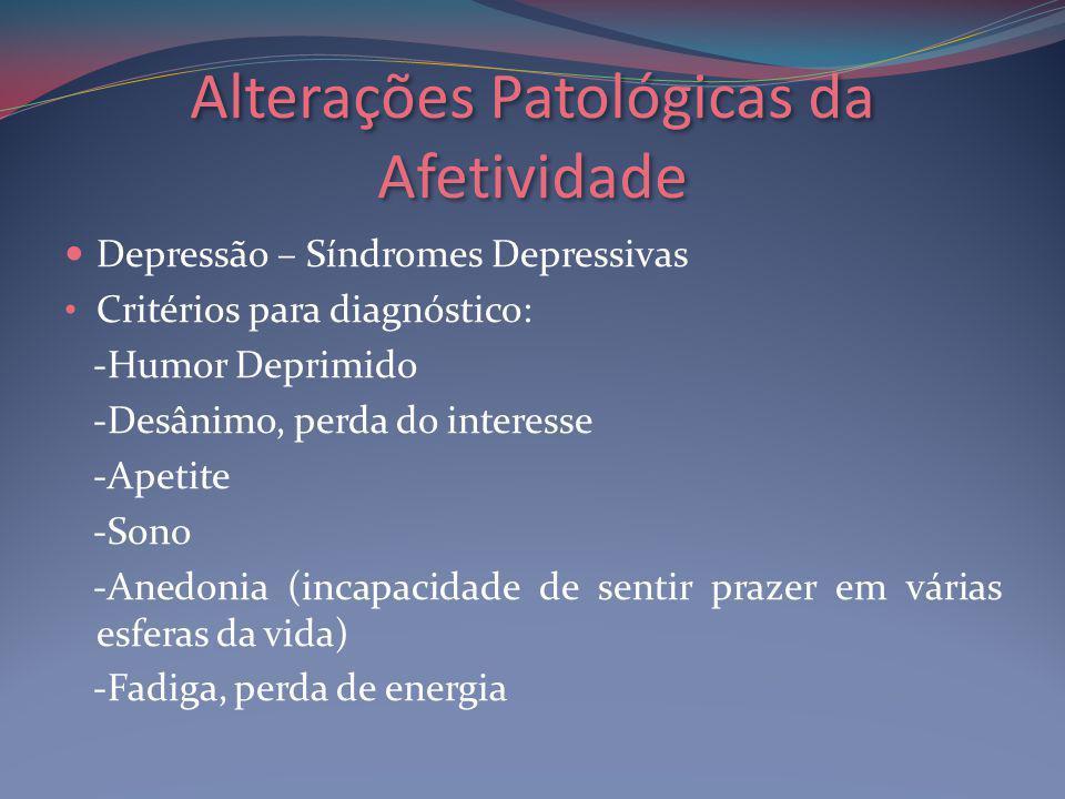 Alterações Patológicas da Afetividade