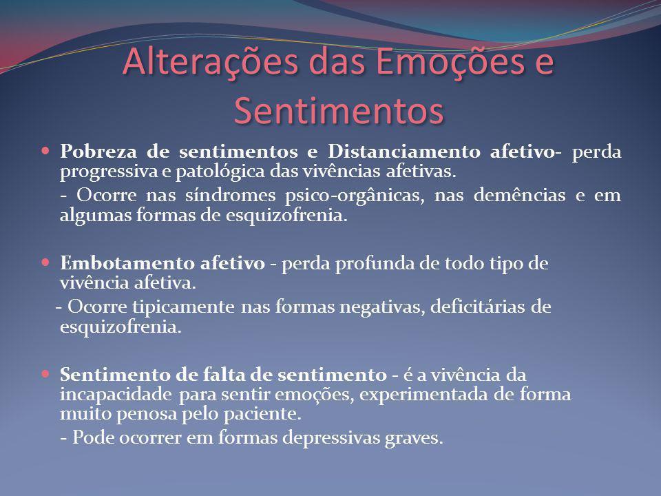 Alterações das Emoções e Sentimentos