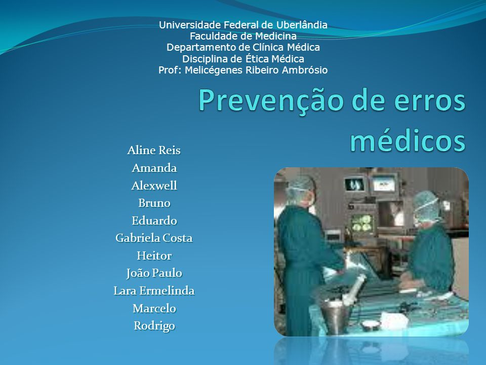 Prevenção de erros médicos