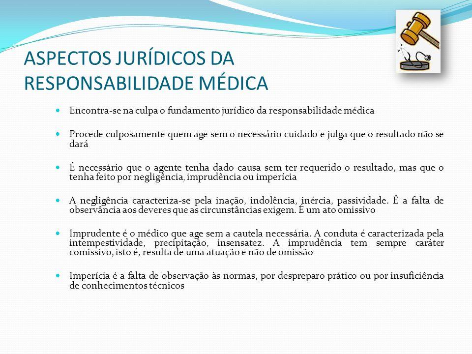 ASPECTOS JURÍDICOS DA RESPONSABILIDADE MÉDICA