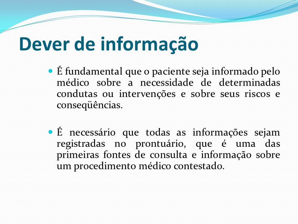 Dever de informação