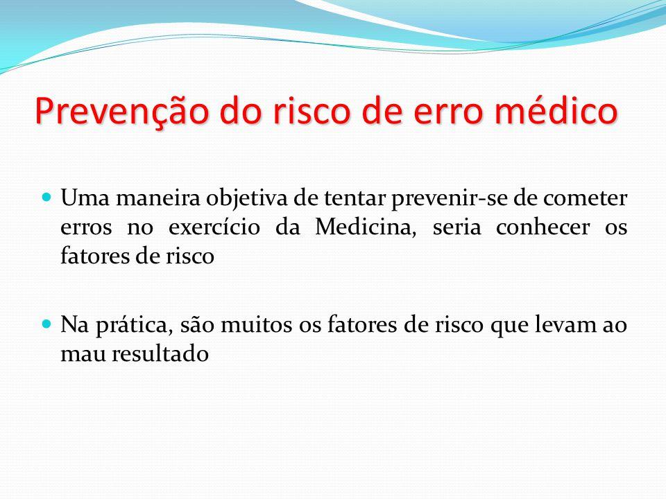 Prevenção do risco de erro médico