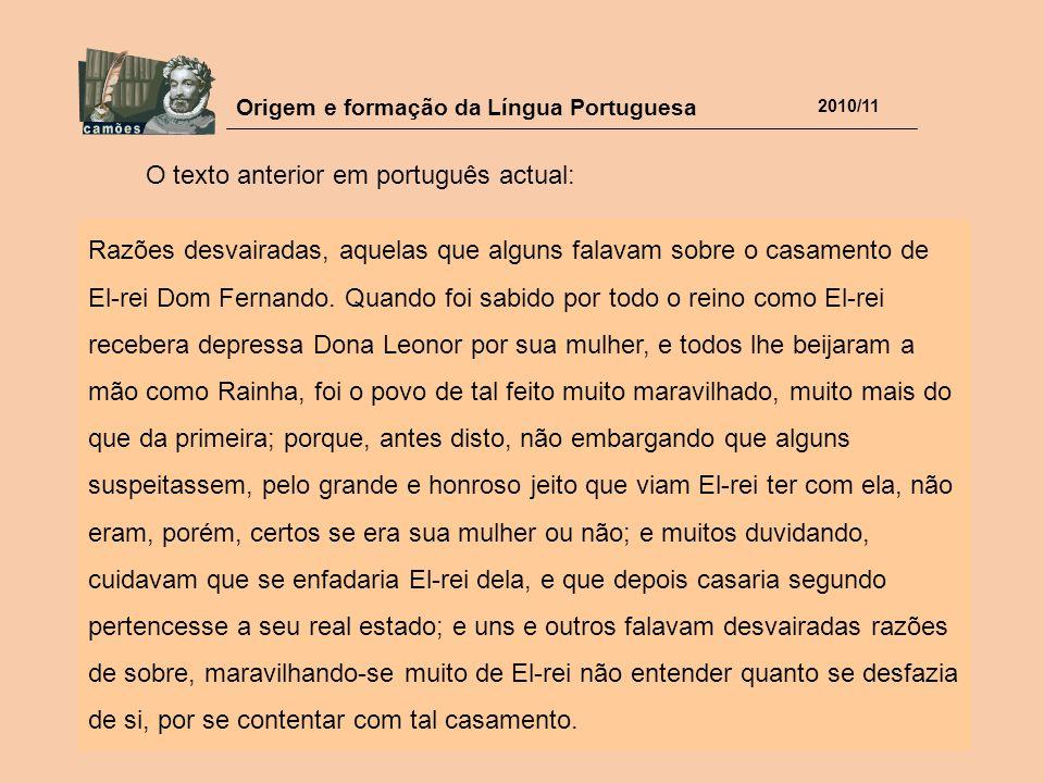 O texto anterior em português actual:
