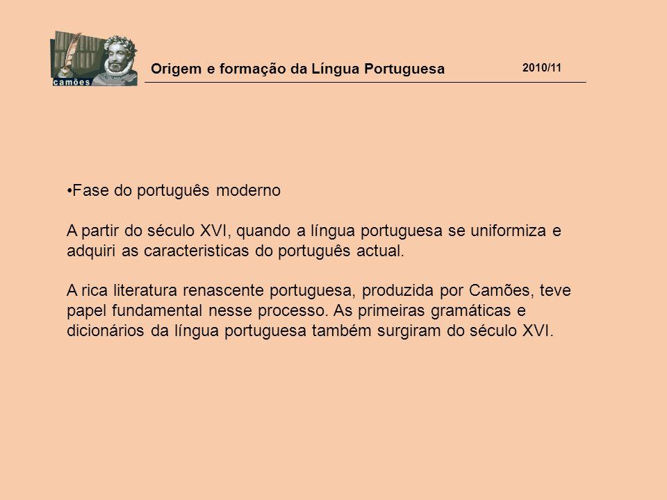 Fase do português moderno