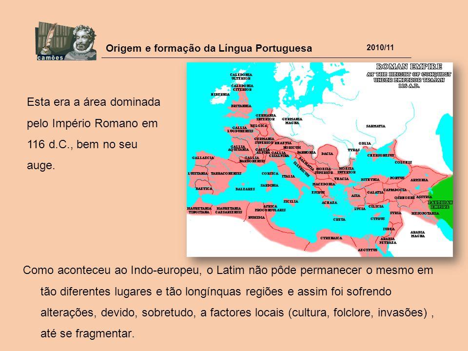 Esta era a área dominada pelo Império Romano em 116 d. C