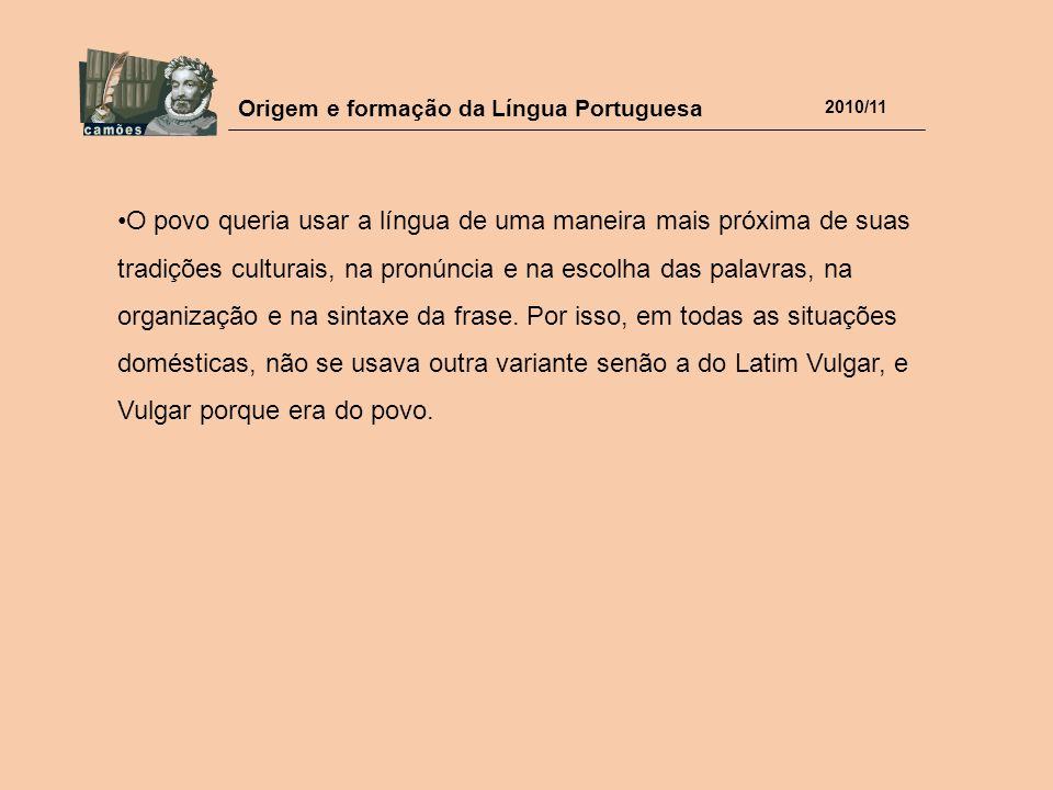O povo queria usar a língua de uma maneira mais próxima de suas tradições culturais, na pronúncia e na escolha das palavras, na organização e na sintaxe da frase.