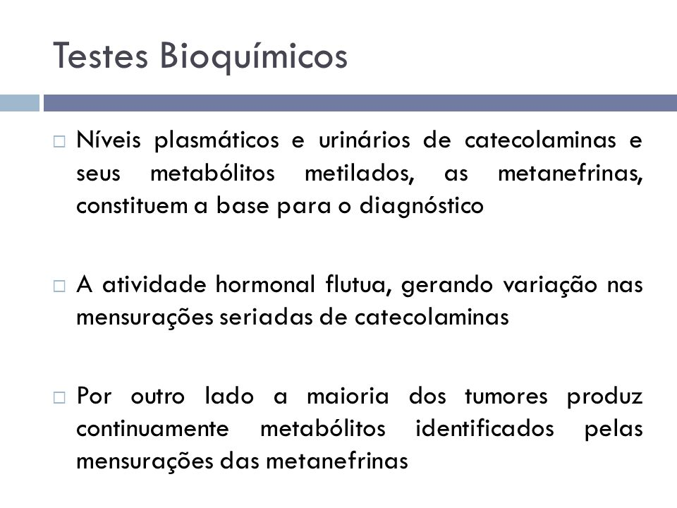 Testes Bioquímicos