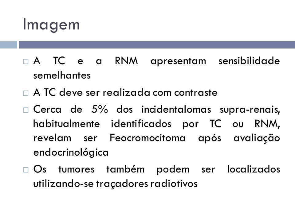 Imagem A TC e a RNM apresentam sensibilidade semelhantes