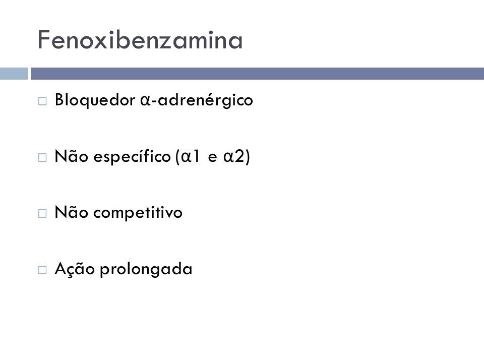 Fenoxibenzamina Bloquedor α-adrenérgico Não específico (α1 e α2)