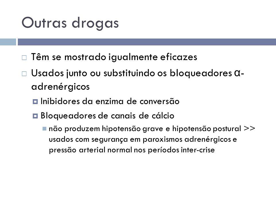 Outras drogas Têm se mostrado igualmente eficazes