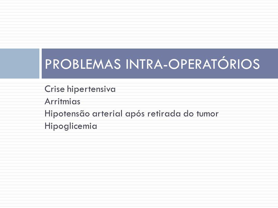 PROBLEMAS INTRA-OPERATÓRIOS
