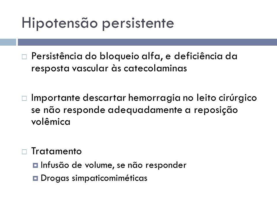 Hipotensão persistente