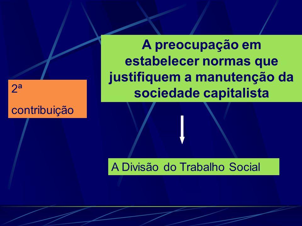 A preocupação em estabelecer normas que justifiquem a manutenção da sociedade capitalista